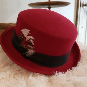 AXCESS Burgundy Bowler Hat